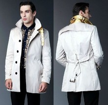 Men Leather Coat Winter Long Leather Coat Genuine Real Leather Trench COAT-UK35 - $214.46