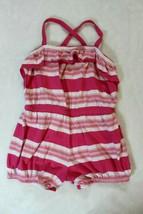 Old Navy Girls Romper Size 4T Pink White Stripe Ruffle Shortset Spring S... - $21.77