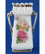 Antique Porcelain Spill Vase Fairing Roses German 1890s Victorian Fair S... - $16.00