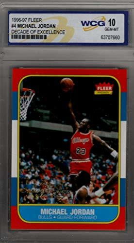 Primary image for Michael Jordan Chicago Bulls 1996-97 Fleer Decade of Excellence WCG 10 GEM MT 19