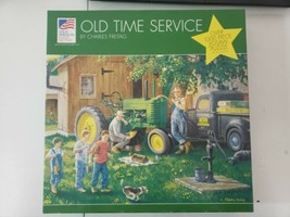 """Old Time Service 2002 John Deere License 1000-Pc Puzzle 19.25"""" X 26.5"""" - $15.83"""