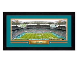 "Hard Rock Stadium Miami Dolphins - 6.75"" x 13"" Miniframed Photo Montage - $38.95"