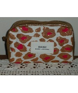 Marc Jacobs Daisy Cosmetic Bag Ivory and Pink with Gold Glitter 7 x 5 inch - $12.00