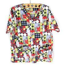 Scrubs LOT PANTS / SHIRT Floral Women's L Top Work Wear Adult Short Slee... - $16.88