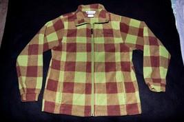 Columbia Youth Size 14/16 Green Long Sleeve Polyester Jacket Coat Pockets - $4.49