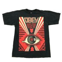 Obey Niemals Trust Shirt-Medium M Schwarz Bequeme Passform Herren Don'T Believe - $19.71