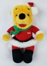 "Disney Winnie The Pooh 10"" Plush Bear Santa Suit Christmas Stuffed Animal  - $19.35"
