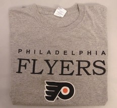 PHILADELPHIA FLYERS T-Shirt, Gray, Size Large, NHL - $14.03