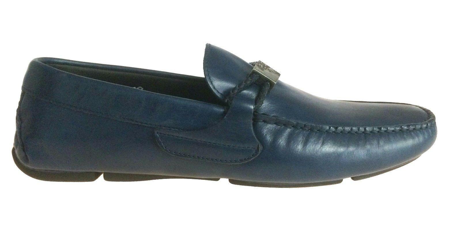 Versace PCS Unique Leather Driving Shoes V900545 v346v  - $365.00
