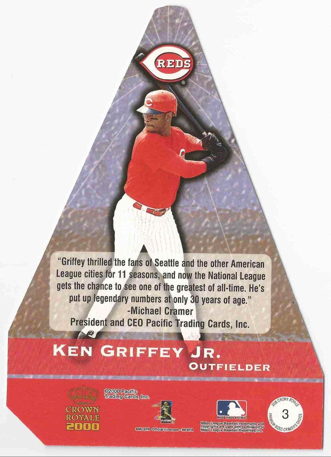 2000 Crown Royale Ken Griffey, JR. Cincinnati Reds  #3