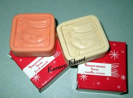 Soap - Avon Holiday Snowman Soaps - Vanilla & Peach Scented - NIB - $7.80
