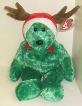 TY Beanie Buddy - 2002 HOLIDAY TEDDY - $33.99