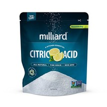 Milliard Citric Acid 5 Pound - 100% Pure Food Grade NON-GMO Project VERIFIED 5 P