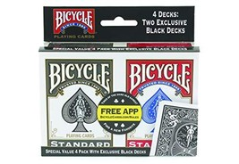 Bicycle Playing Cards - Poker Size - 4 Pack - $12.80