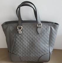 NWT Gucci gray mini Guccissima leather small shoulder bag ; - $599.99