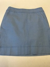 Talbots Women's Jeans Light Blue with White Print Stretch Skirt Size 4 NWT - $32.87