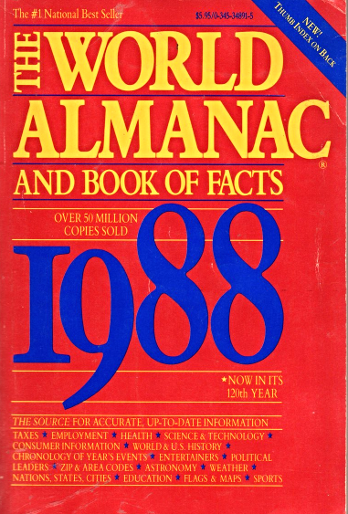 The World Almamac & Book of Facts 1988 image 1