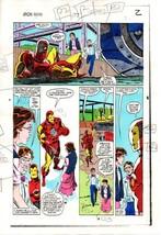 Original 1983 Invincible Iron Man 177 page 2 Marvel Comics color guide art:1980s - $99.50