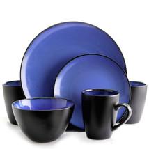Gibson Elite Soho Lounge Round 16-Piece Dinnerware Set, Blue - $75.51