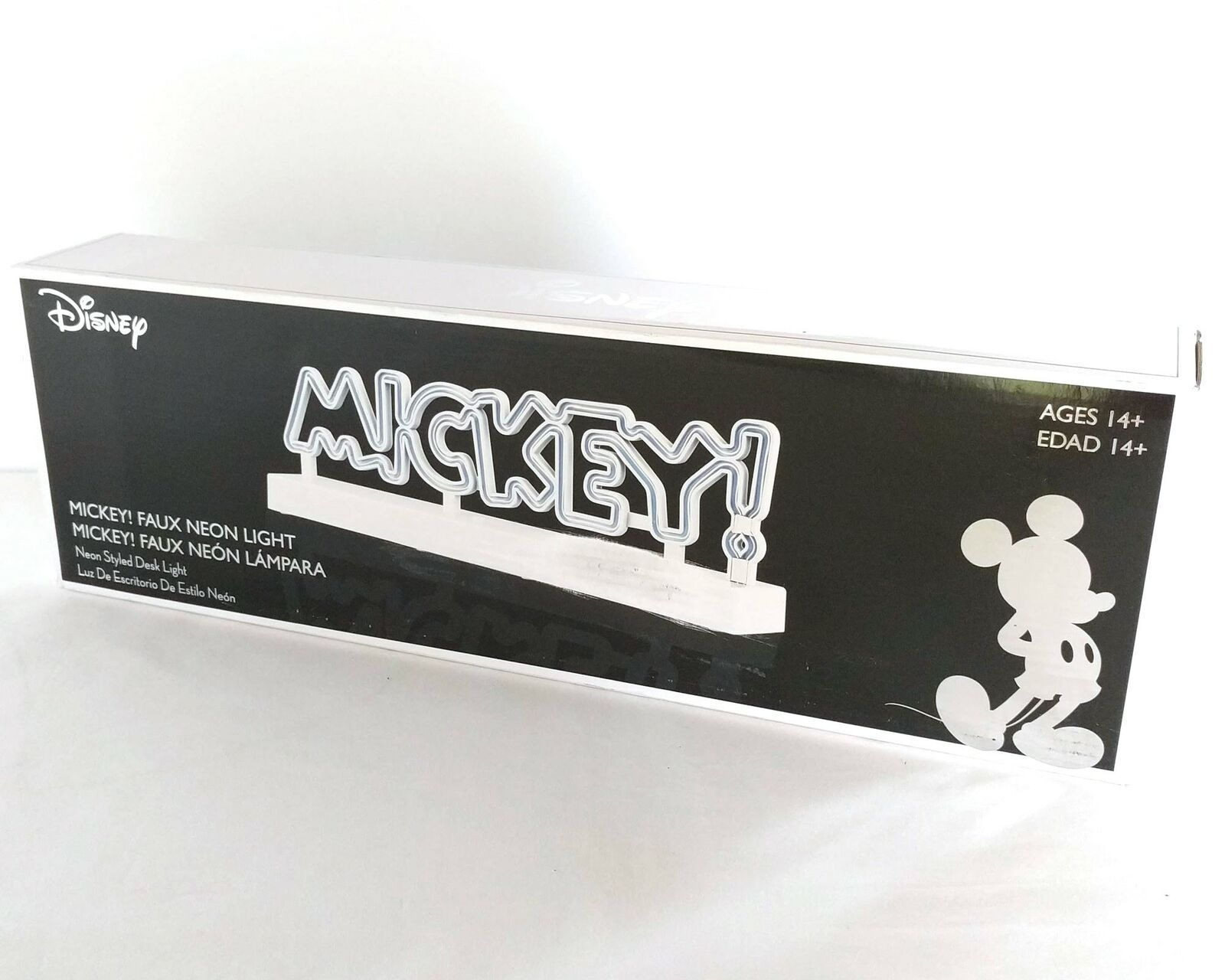 Disney MICKEY Faux Neon Light Table Desk Lamp White ~ NEW OLD STOCK