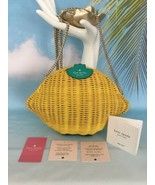 KATE SPADE NWT LEMON CROSSBODY BAG PURSE WICKER PICNIC  PERFECT YELLOW - $159.00