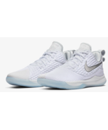 NIKE LEBRON WITNESS III MEN'S BASKETBALL SHOES AO4433-101 White Platinum - $36.39