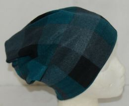 Howards Arianna Collection Buffalo Plaid Convertible Hat Adult Teal Black image 3