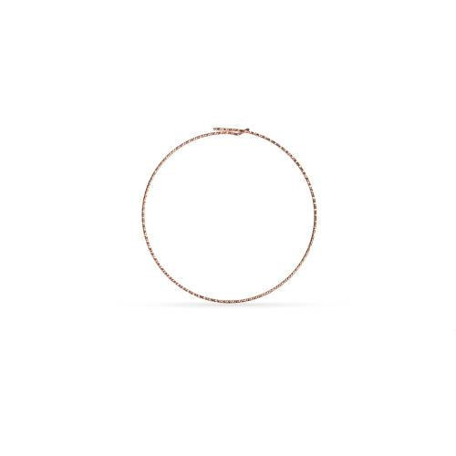 Primary image for Ear Wire, Sparkle Beading Hoop, 14Kt Rose Gold Filled, 45mm 21ga, 2Prs (10462)/1