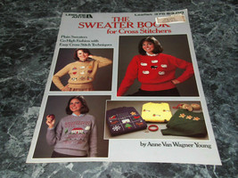 The Sweater Book for Cross Stitchers Leisure Arts Leaflet 375 - $2.99