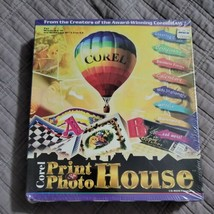 Corel Print & Photo House Cd Rom Software New Sealed Big Box Vintage 1996 - $34.99