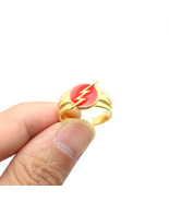 DC Comics The Flash Superhero Lightning 925 Silver Ring Justice League M... - $22.99