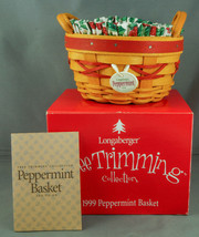 Longaberger Peppermint Red Basket Holly Liner & Protector in Box - $29.99
