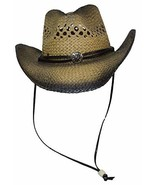 Jacobson Hat Co Inc Men's Western Straw 's Hat Natural One Size - $21.33
