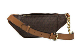 Michael Kors Women's Mott Medium Logo Adjustable Leather Waistpack Belt Bag image 2