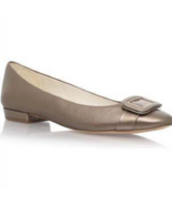 NEW ANNE KLEIN  BROWN BRONZE LEATHER FLAT PUMPS SIZE 7.5 M 8 M  8.5 M $80 - $33.24
