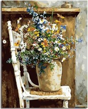 """Flower Chair 16X20"""" Paint By Number Kit DIY Acrylic Painting on Canvas F... - $8.90"""