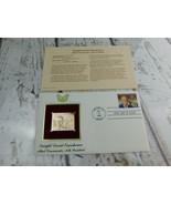 Dwight D. Eisenhower34th Pres. 22kt Golden Replica Stamp 1990 First Day ... - $19.79