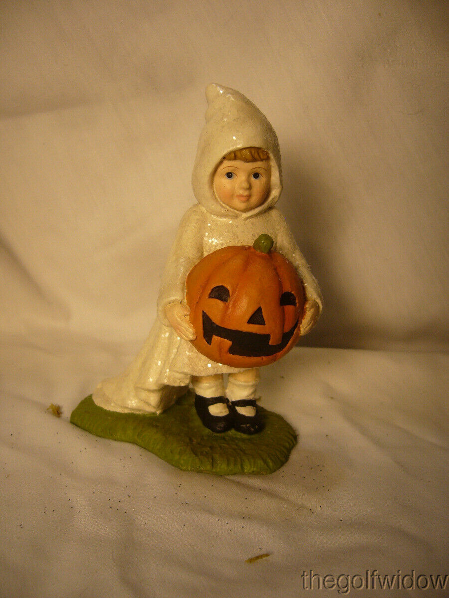 Bethany Lowe Halloween Little Ghost Gabby with Pumpkin no. TD7628