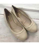 Louise et Cie Scallop Perforated Cream ballet Flat women 6 - $27.00