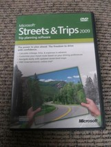 Microsoft Streets and Trips 2009 w/ Product Key Trip Planning Software W... - $19.79