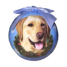 YELLOW LAB LABRADOR CHRISTMAS BALL ORNAMENT DOG HOLIDAY XMAS PET LOVERS ... - $9.95