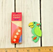 vintage 1970's green Avon Perky Parrot Pin bird brooch pin New old stock... - $23.50