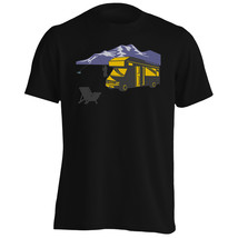 Camper Van Fishing Mountains Funny Vintage Art  Men's T-Shirt/Tank Top v... - $12.02+