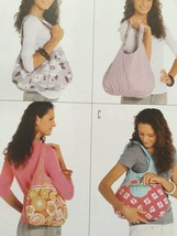 Burda Sewing Pattern 7410 Three Rounded Shoulder Pouch Bags Uncut Access... - $12.67