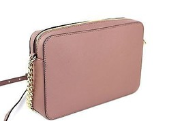 Auth Michael kors Jet Set Crossbody Leather Peach Echo Mini Shoulder Bag... - $187.11