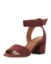 Givenchy Paris Suede Ankle-Wrap Sandals Size 37.5  MSRP: $595.00 - $415.80