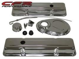 1958-86 Chevy Sb 283-305-327-350 Chrome Steel (Short) Engine Dress UP- Kit - $88.48