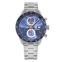 TAG Heuer Carrera Steel Blue Dial Chronograph Automatic Mens Watch CV201... - $3,999.00