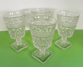 Imperial Glass Cape Cod Low Water Goblet (S) Lot Of 4 - $19.75