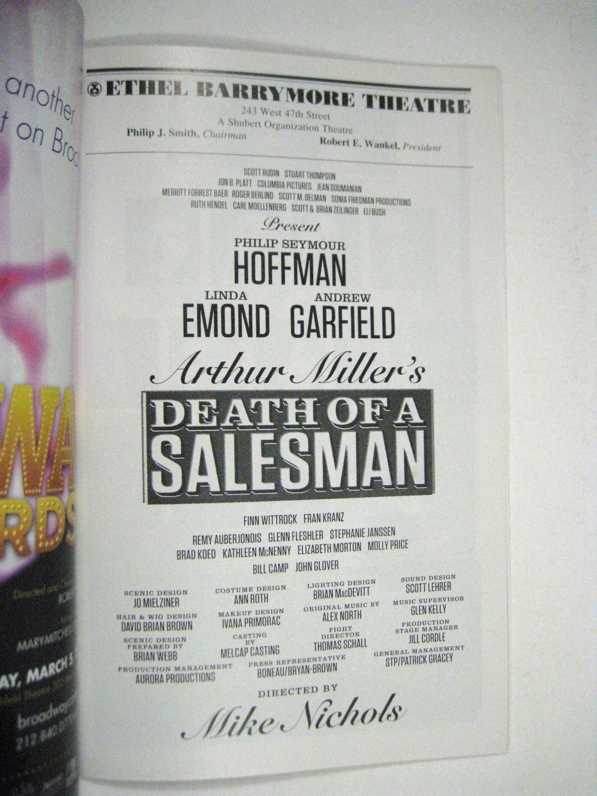 Death of a Salesman Playbill March 2012 Barrymore Theatre Philip Hoffman Glover